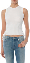 Autumn Cashmere Rib Side Lace Up Top