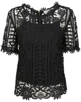 Blugirl Floral Lattice Lace Top