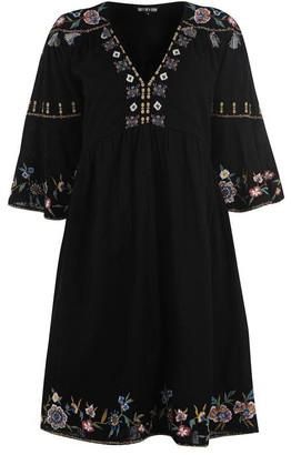 Biba Tassel Embroidered Dress