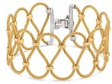 Alor Two Tone Looped Cable Bracelet