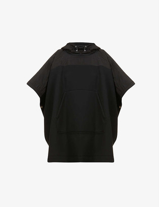 Moncler Oversized hooded jersey cardigan