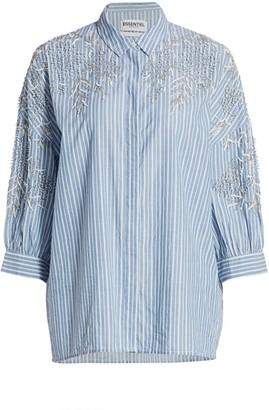 Essentiel Antwerp Veigns Embellished Stripe Blouse