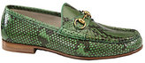 Gucci Green Python Horsebit Loafers