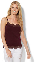 New York & Co. Lurex Lace-Trim Camisole