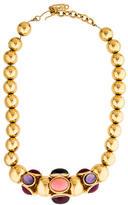 Saint Laurent Cabochon Bead Necklace