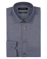 Jaeger Melange Herringbone Slim Shirt