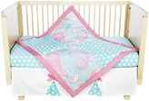 My Baby Sam Aqua Pixie Baby 3-Piece Crib Bedding Set