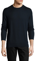 Burberry Cashmere Crewneck Sweater with Check Elbow Patch
