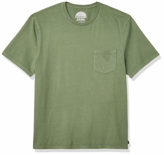 Lucky Brand Men's Short Sleeve Crew Neck Sunset Pocket Tee Shirt