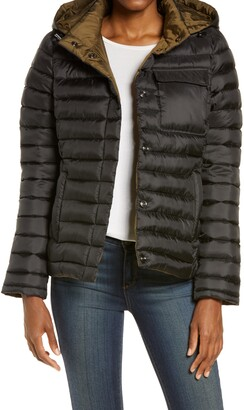 Zella Ultralight Reversible Puffer Jacket with Removable Hood