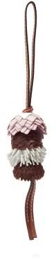 Loewe Flower Leather Key Charm - Pink Multi