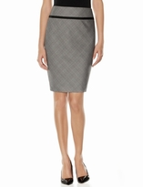The Limited Checkered Pencil Skirt