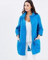 Ruched Cuff Coat
