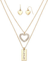 Liz Claiborne XOXO Earring and Layered Necklace Set