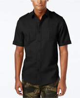Sean John Men's Solid Linen Short-Sleeve Shirt