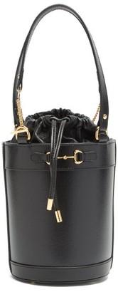 Gucci 1955 Horsebit Leather Bucket Bag - Black
