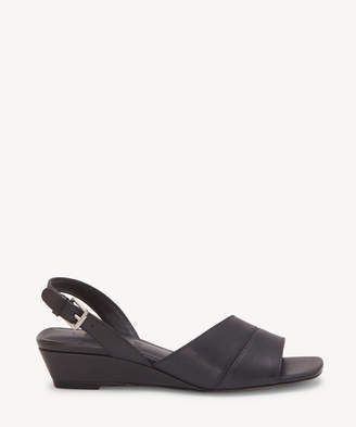 1 STATE Women's Nai Low Wedges Sandals Black Size 6 Leather From Sole Society