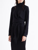 Victoria Beckham Turtleneck silk blouse