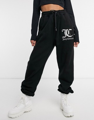 Juicy Couture co-ord jersey trackies with logo in black