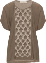 Isolde Roth Plus Size Lace insert top