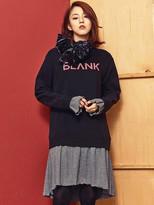 Blank Sweat Dress Bk