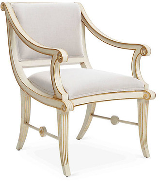 Bunny Williams Home Star Accent Chair - Natural Linen