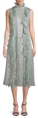 Lanvin Floral Lace Midi Dress