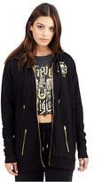 True Religion Womens Metallic Graphic Zip Up Hoodie