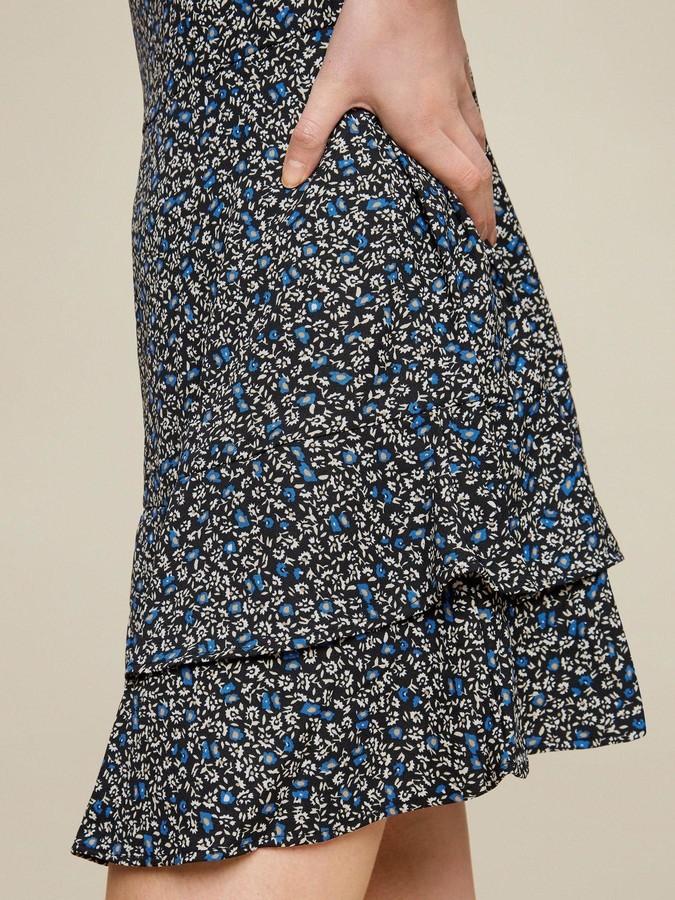 Thumbnail for your product : Dorothy Perkins Ditsy Print HighNeck Mini Dress - Black