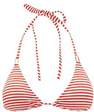 Melissa Odabash Cancun Striped Triangle Bikini Top - Womens - Red Stripe