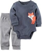 Carter's 2-Pc. Fox Cotton Bodysuit and Pants Set, Baby Boys (0-24 months)