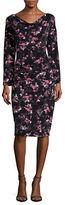 T Tahari Johanna Long Sleeve Sheath Dress