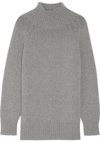 Max Mara Robinia Wool And Cashmere-blend Turtleneck Sweater - Light gray