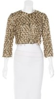 Badgley Mischka Sequined Cropped Jacket w/ Tags
