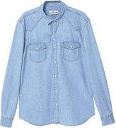 MANGO Men's Slim-fit light denim shirt