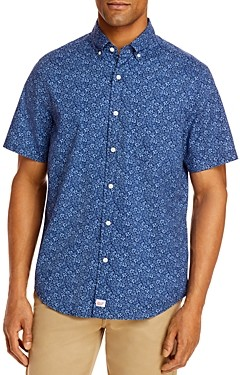 Vineyard Vines Waterway Classic Fit Floral Print Short-Sleeve Button-Down Shirt