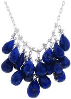 Ten Thousand Things Faceted Lapis Waterfall Necklace in Sterling Silver