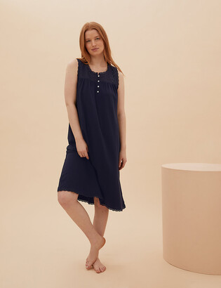 Marks and Spencer Pure Cotton Embroidered Nightdress