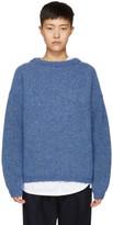 Acne Studios Blue Mohair Dramatic Sweater