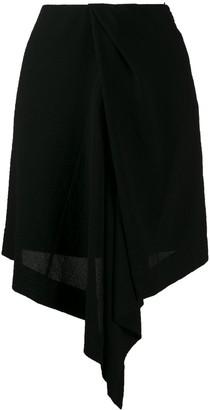 Nina Ricci lightweight asymmetric skirt