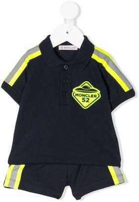 Moncler Enfant Polo Shirt Striped Track Suit