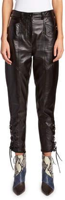 Isabel Marant Leather Lace-Up Pants