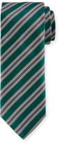 Canali Textured Stripe Silk Tie