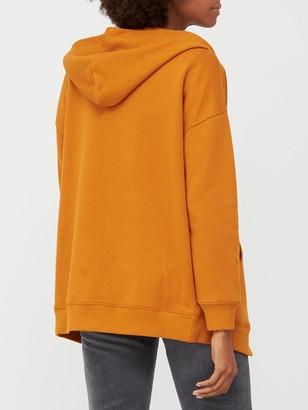 Very The Essential Oversized Zip Through Hoodie - Orange