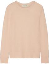 By Malene Birger Rasminy Distressed Stretch-knit Sweater - Blush