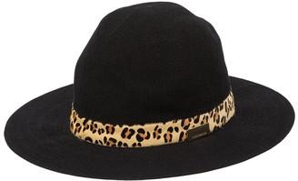 Vince Camuto Animal Print Genuine Horse Hair Band Floppy Hat