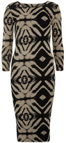 Dorothy Perkins Brown tribal print midi dress
