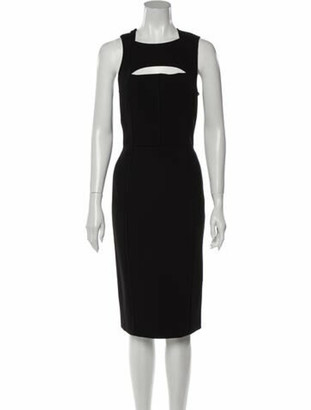 Narciso Rodriguez Square Neckline Midi Length Dress w/ Tags Black