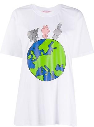 Natasha Zinko graphic print short-sleeve T-shirt