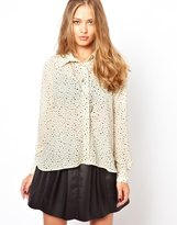 MinkPink Small Star Print Shirt